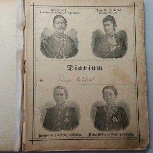 Diarum mit Portraits Wilhelm II.
