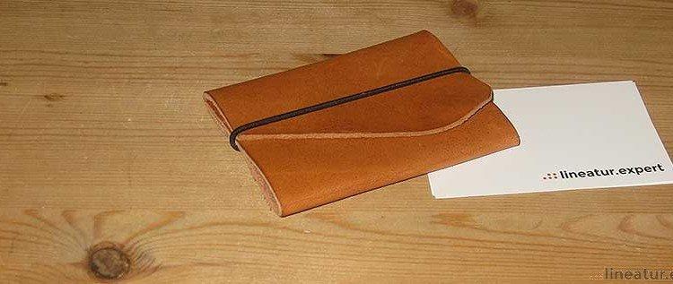 DIY – Eine kleine Tasche für Visitenkarten oder Geld selbstgemacht.