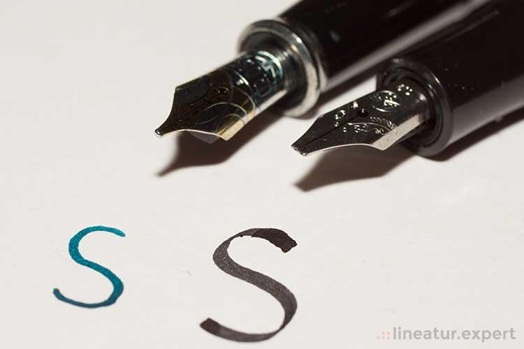 Kalligraphie - Wirkung unterschiedlicher Spitzen