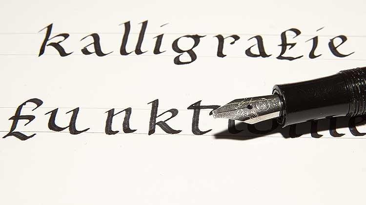 Detailfoto Kalligraphie mit Kaweco