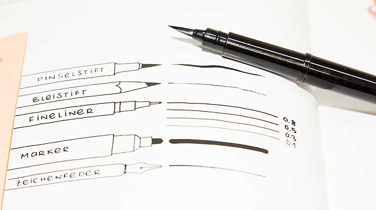 pentel pbp handlettering - Kalligraphie mit dem Pentel Pocket Brush Pen GFKP3