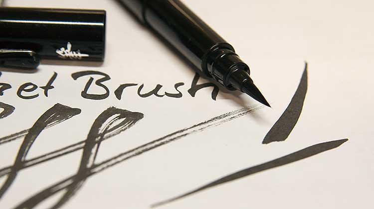 pentel pbp strichbreite - Kalligraphie mit dem Pentel Pocket Brush Pen GFKP3