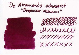 Farbkarte der TdM De Atramentis schwarzrot