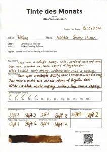 tdm pelikan edelstein smoky quartz formular 212x300 - Pelikan Edelstein Smoky Quartz - Tinte des Monats