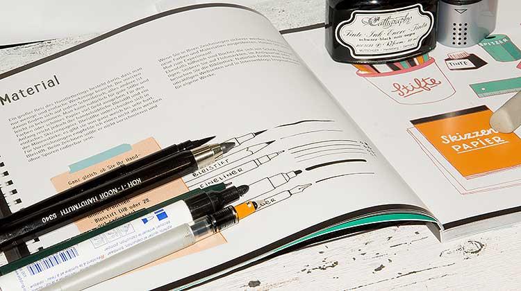 """handlettering material - """"Handlettering - Die Kunst der schönen Buchstaben"""" eine Rezension"""