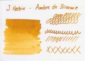 "ambre tdm farbkarte 300x214 - J. Herbin ""Ambre de Birmanie"" - Tinte des Monats"
