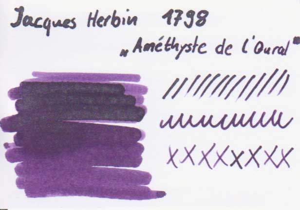 1798 farbkarte - Jacques Herbin - 1798 - Améthyste de l'Oural - Tinte des Monats