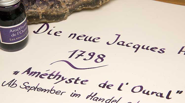 """Die neue Jacques Herbin 1798 """"Améthyste de l'Oural"""""""