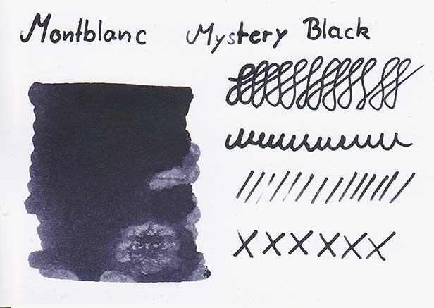 Farbkarte Montblanc Mystery Black
