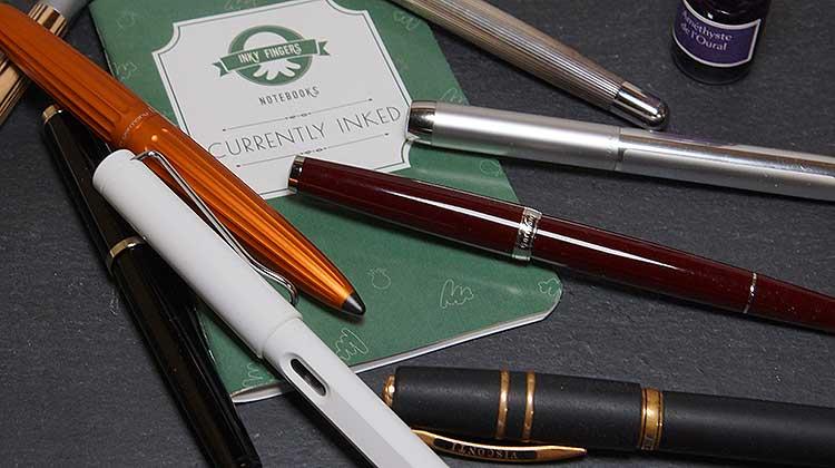 Das Currently Inked von Inky Fingers – Welche Tinte ist in welchem Füller?