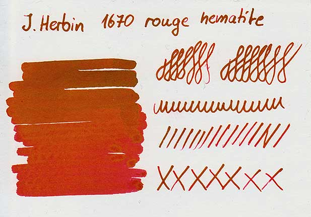 tdm 1670 rouge hematite - J. Herbin 1670 rouge hematite