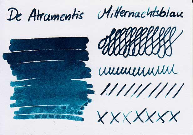 tdm mitternachtsblau farbkarte - De Atramentis – Mitternachtsblau – Tinte des Monats