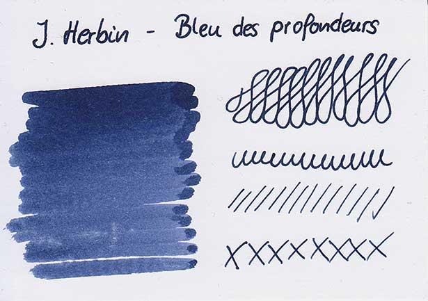 tdm bleu des profondeurs karte - J. Herbin - Bleu des profondeurs - Tinte des Monats