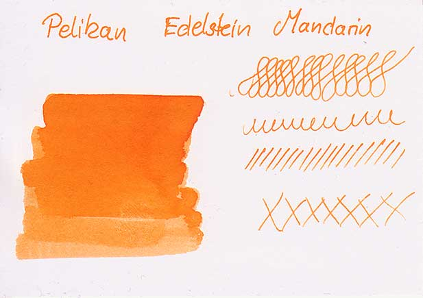 mandarin tdm farbkarte - Pelikan Edelstein Mandarin - Tinte des Monats