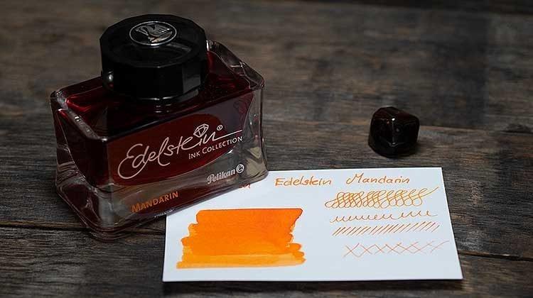 tdm pelikan edelstein mandarin 750x420 - Pelikan Edelstein Mandarin - Tinte des Monats
