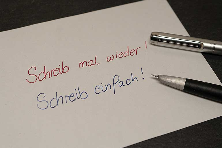 schreib einfach - Internationaler Tag der Handschrift